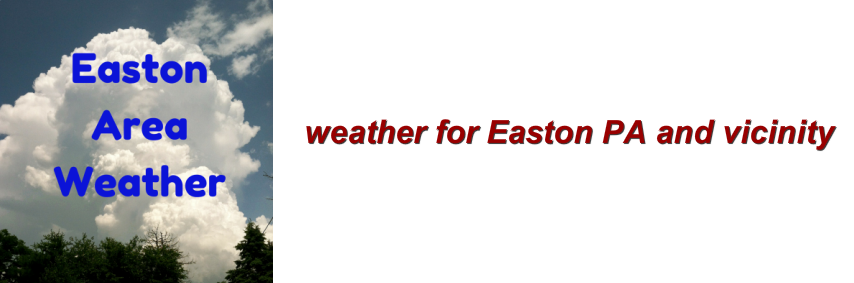 weather for Easton, PA and vicinity